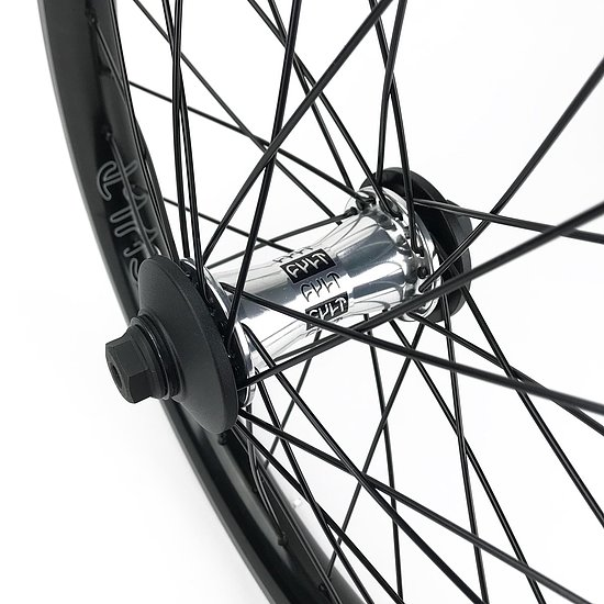 Bild 2 - Cult CREW AERO 18 Front Wheel polished aero 18'' 10mm bolts Female Axle incl. Hubguards