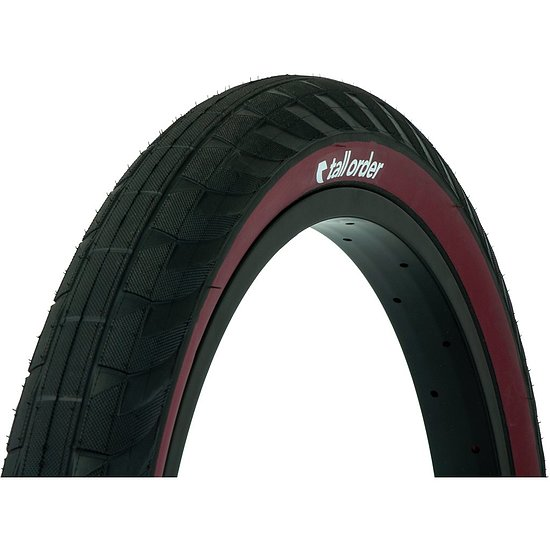 Bild 4 - tall order WALLRIDE Tire black/dark redwall 20''x2.3''