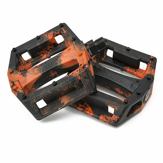 Bild 1 - Mission IMPULSE Pedal black/orange plastic/steel 9/16''