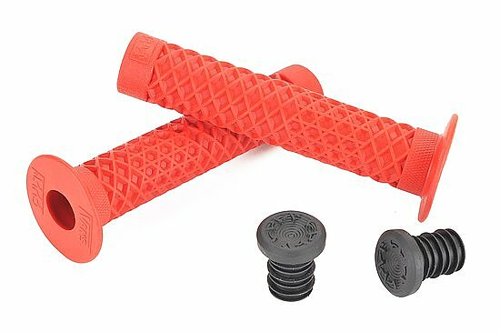 Bild 1 - Cult VANS WAFFLE Grips red with flange Made in USA