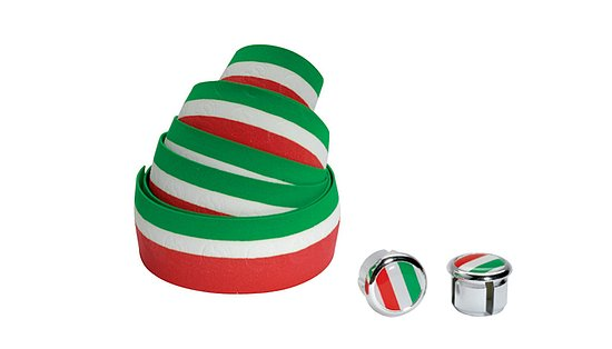Bild 1 - Cinelli FLAG RIBBON Lenkerband green/white/red Kork