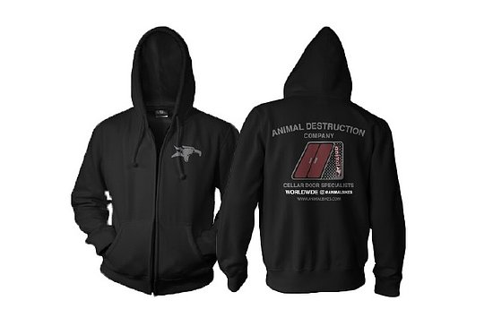Bild 1 - Animal CELLAR DOOR Hooded Zipper schwarz L
