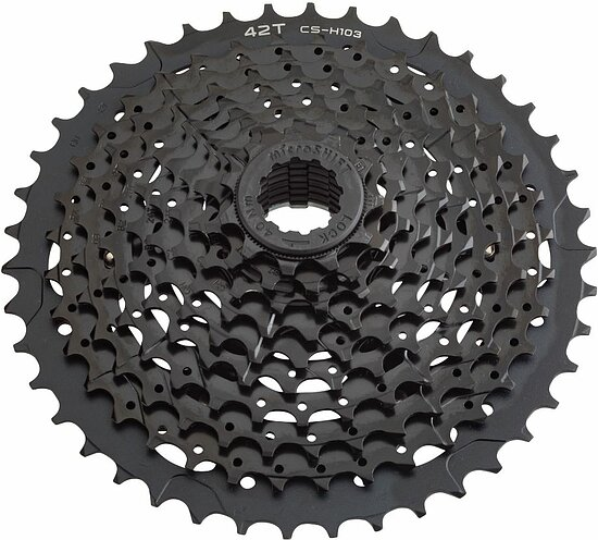 Bild 1 - microSHIFT XLE CS-H103 Cassette ed black 10-speed 11-42t