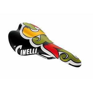 Cinelli SCATTO ARALDO Sattel black/yellow rail