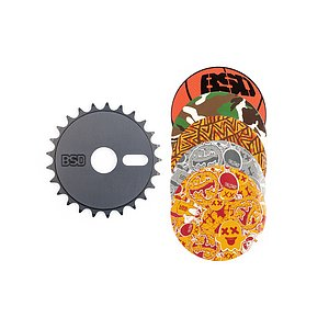 BSD STICKER BOMB Sprocket black 25t bolt drive incl. 5 stickers