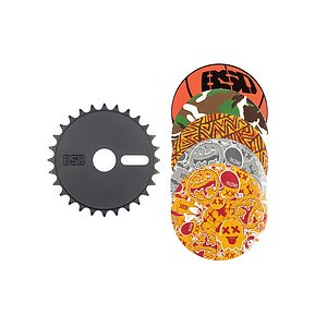 BSD STICKER BOMB Sprocket black 28t bolt drive incl. 5 stickers