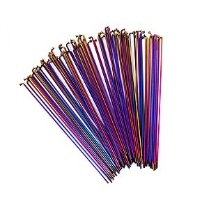 Total BMX DOUBLE BUTTED RAINBOW Speichen regenbogen 182mm 20pcs incl. nipples