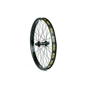 Total BMX TECHFIRE Front Wheel black straight 20'' 34mm 10mm Female Axle