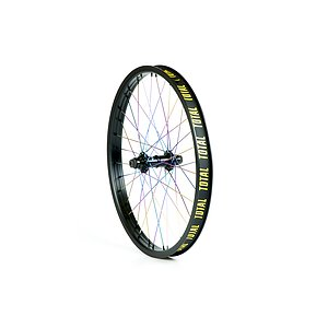 Total BMX TECHFIRE Front Wheel black/rainbow straight 20'' 34mm 10mm Female Axle