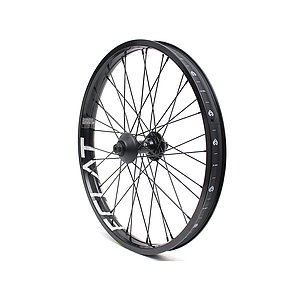 éclat TRIPPIN Front Wheel black straight 20'' 38mm 10mm bolts Female Axle incl. Hubguards