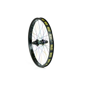 Total BMX TECHFIRE Rear Wheel black/rainbow 20'' 34mm straight Regular Axle Cassette Hub LSD/RSD