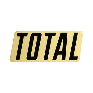 Total BMX NEW STYLE LOGO Sticker black