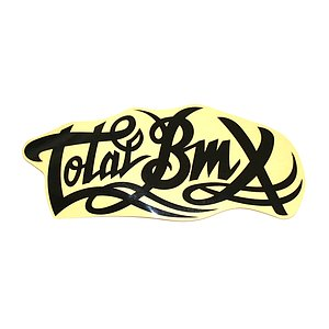 Total BMX LOGO Sticker schwarz