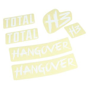 Total BMX HANGOVER H3 Frame Stickers white