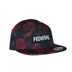 Federal 5 PANEL Mütze schwarz/rot one size fits most