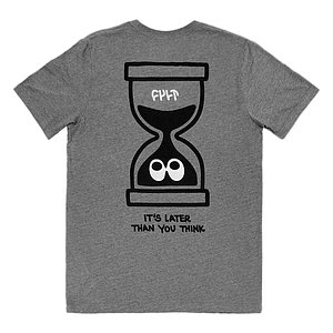 Cult IT'S LATER THAN YOU THINK 2 T-Shirt grau M
