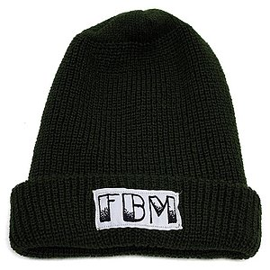 FBM BRAND Beanie green one size fits most