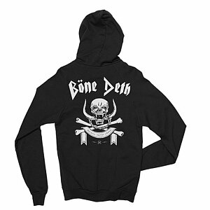 Bone Deth MARCH OR DIE Hooded Zipper schwarz M