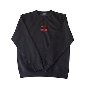Doomed THANKS FOR FUCKING NOTHING Crew Sweater schwarz L