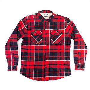 Doomed PAID LAD Flannel red/black M