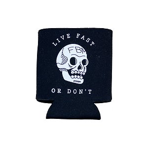 FBM LIVE FAST Coozie black
